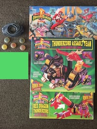 Vintage Power Rangers Assault Team + Red Dragon Thunderzord + 1993 Board Game + 2017 Morpher with power coins Paterson, 07501