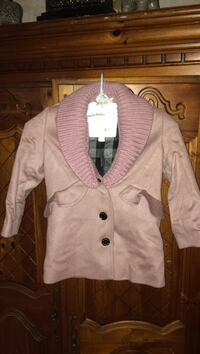 Burberry Childrens pink pea coat with removable wool neck  Toms River, 08753