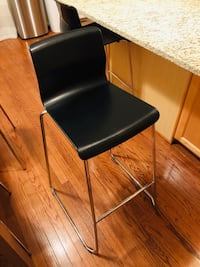"Two (2) bar stools,black,chrome,plated  ""IKEA "" Laurel, 20723"