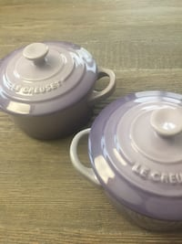 Le Creuset New Provence (Set of 2) Stoneware Mini Cocottes with Lids Washington, 20001