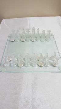 Glass Chessboard Set - Showpiece Whitby, L1R 3E3