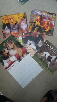 5 expired animal calendars London, N6G 1N1