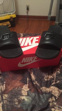 Pair of black nike slide sandals with box size 13 Pembroke, 31321