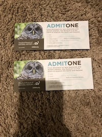 Natural history Museum tickets Aurora, 44202