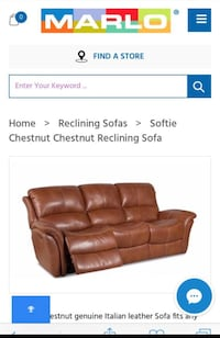 Brown leather recliner sofa screenshot Washington, 20005