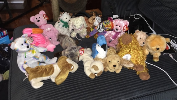 assorted TY Beanie Baby plush toys
