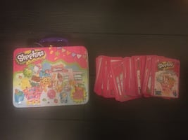Shopkins box and playing cards toy