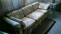 brown and gray fabric 3-seat sofa Campbell, 44405