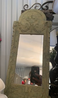 Beautiful stone carved mirror