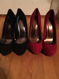 2 pairs of heels - 2 paires de talons size 8 (25$ chaque Nego) 786 km