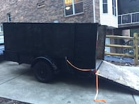 Open top trailer for construction, landscaping ou hauling. The box measures 5 feet wide by 10 feet long by 4 feet high. Flooring is pressure treated lumber, walls pressure treated plywood. Frame manufactured in 1957 of high grade steel. Great trailer, wel Mooresville, 28117