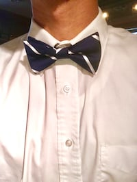 Clip on Bow tie blue with white stripes  Portland, 97225
