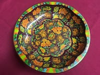 "Vintage 1971 Daher Decorated Ware Orange FloralDesign 10"" TinMetal Bowl England Las Vegas, 89143"