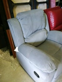 Gray rocker recliner large