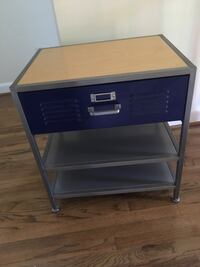 PB Teen Locker and wood night stand/end table (like new) Alexandria, 22304