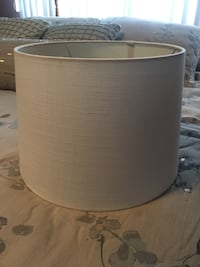 Drum lampshade linen white like new! Portland, 97230