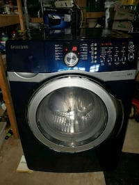 Blue and silver Samsung front load washing machine Brampton, L7A 1R3