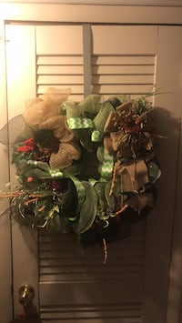 green and red artificial flower wreath Lansing