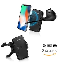 Wireless Car Charger with Fast Wireless Charging car mount new  Wireless Car Charger with Fast Wireless Charging car mount for iPhone X 8/8, Samsung Note 8 Galaxy S8/S8 Plus, Galaxy S7/S6, S7 Edge/S6 Edge Note5 and All QI-enabled devices  Fast Charging Sp