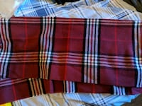 Ladies red checked scarf Whitchurch, SY13