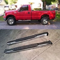 "99-14 Ford F250 Regular Cab Aluminum Nerf Bars /Side Step OE Style 5"" Oval La Puente"
