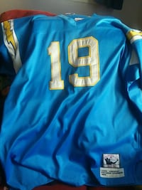 blue and yellow NFL jersey