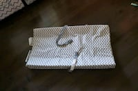 Grey and white baby change pad like new condition  Edmonton, T6V 0L9