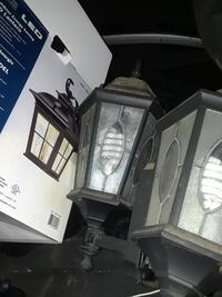 two gray wall lamps with box Rialto, 92377
