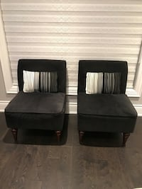 two black fabric sofa chairs Mississauga, L5R 3S3