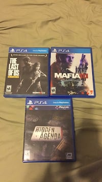 Three sony ps4 game  Flowery Branch, 30542