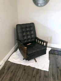 black leather padded sofa chair Vancouver, V6K 1N5