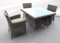 4x Dining Arm Chair + 1x Square dining table Balcony Dining Set - Brand New! Factory direct! $649 instead $1000! Outdoor Patio Furniture  Ontario, 91761