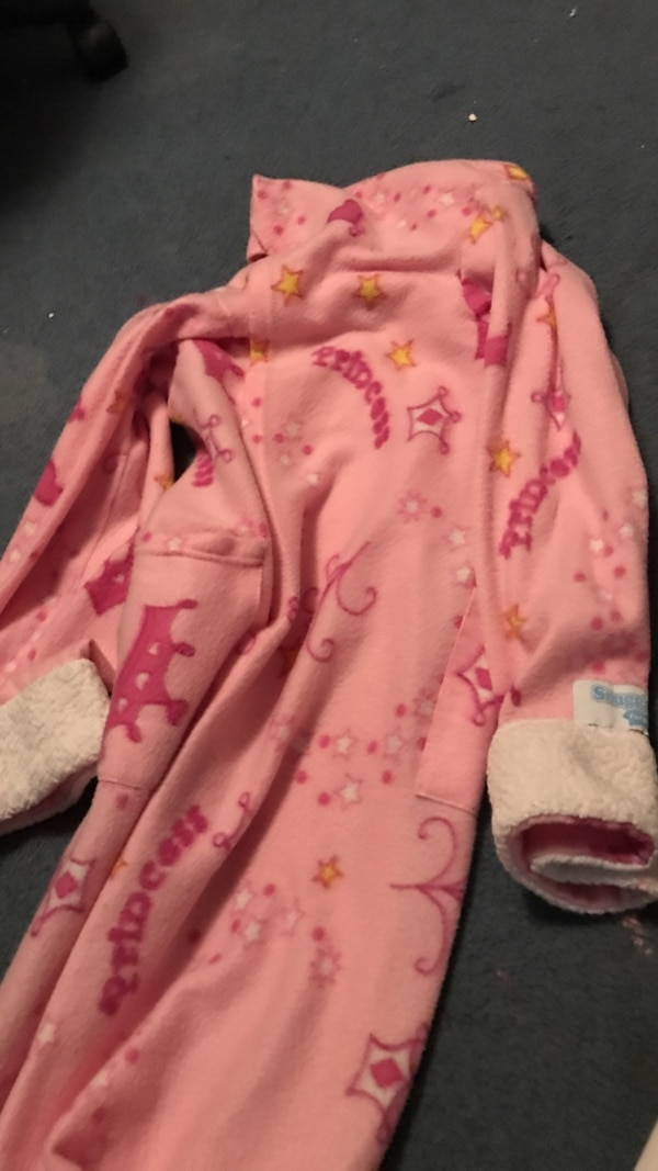 baby's pink and white onesie