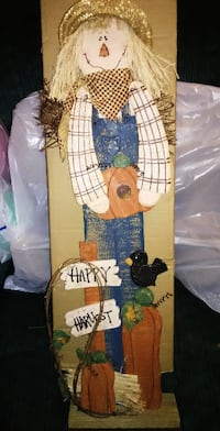 Wooden Scarecrow Fall Porch Ornament