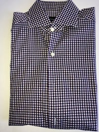 Ermenegildo Zegna Dark Blue Checkered Button Up Size Small MSRP $375. Washington, 20018