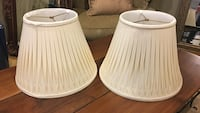 two white table lamp shade Northbrook, 60062