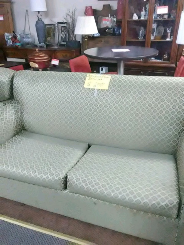 5 Pc Green Sleeper Sofa Set