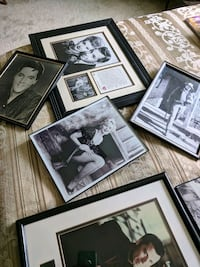 Collection of celebrities framed photos