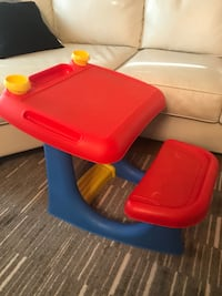 red and blue plastic table Edmonton, T6L 1M6