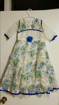 white, blue, and green floral sleeveless dress Toronto, M1T 2G6