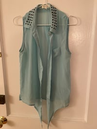 Beaded sleeveless blouse