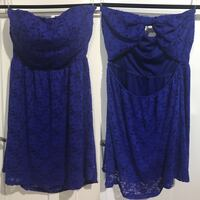 Blue lace dress size medium BRAND NEW Calgary, T2S 1H4