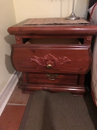 brown wooden 2-drawer nightstand Mississauga, L5M 3M5