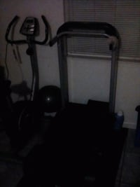 black and gray elliptical trainer and treadmill Sacramento, 95820