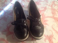 Nevada women's black and gold wedge shoes Size 8 Calgary, T2C 0P5