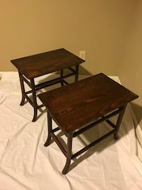 2 Vintage wood end tables(cappuccino) Alexandria, 22206