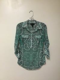 Women's INC 100% nylon button up sleeves blouse… Size small Manasquan, 08736