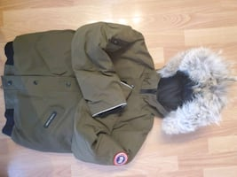 Military green canada goose