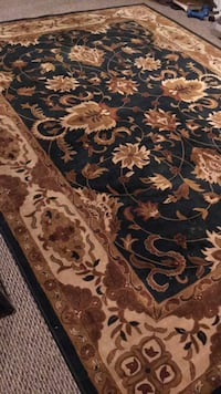Brown and black floral area rug Port Coquitlam, V3C