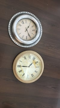 round silver  and brown wall clocks Alexandria, 22303